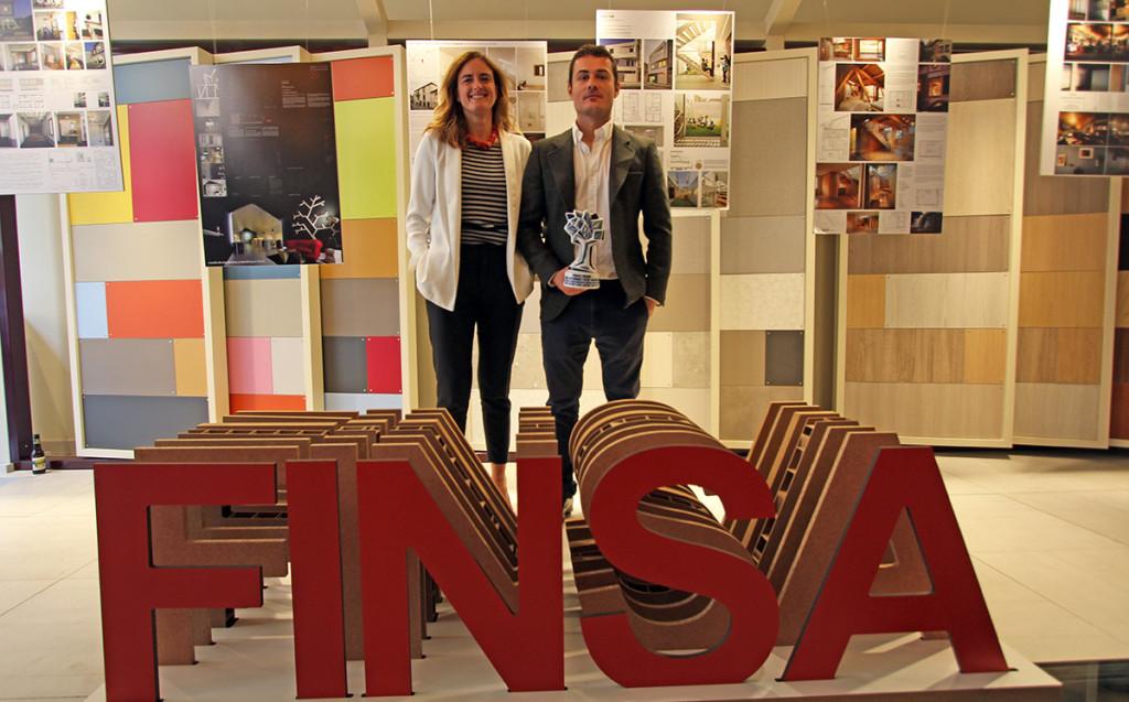 Alai y José María Zarranz Olivero en la entrega de premios de los Thinking Wood Awards