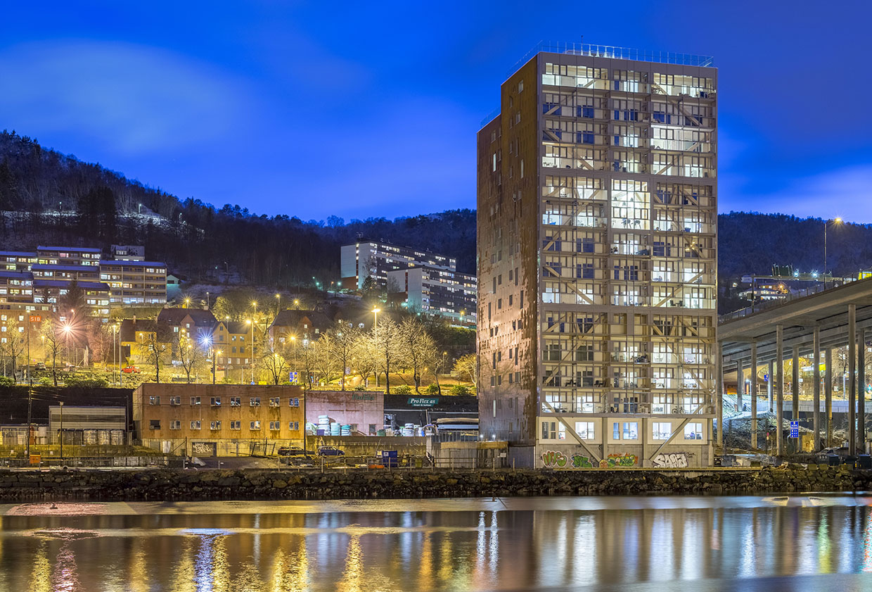 Treet (Bergen) has just been ousted as the highest wooden building in the world. Source: treetsameie.no.
