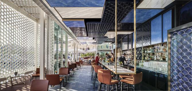 Interiorismo en un restaurante: Blue Wave