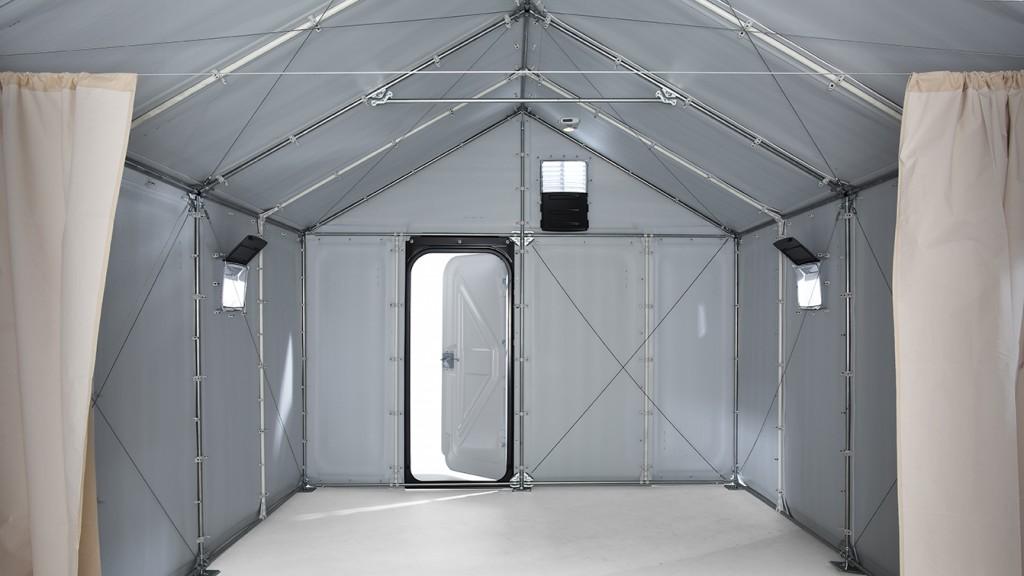 La unidad Better Shelter tiene capacidad para 5 habitantes. Imagen: Jonas Nystrom.