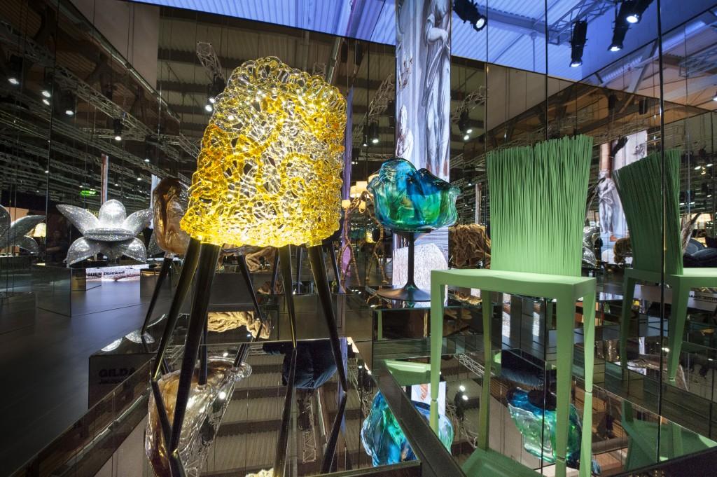 El Salone del Mobile confirma este 2018 la tendencia hacia mayor riqueza de materiales apuntada en 2017. Foto: salonemilano.it.