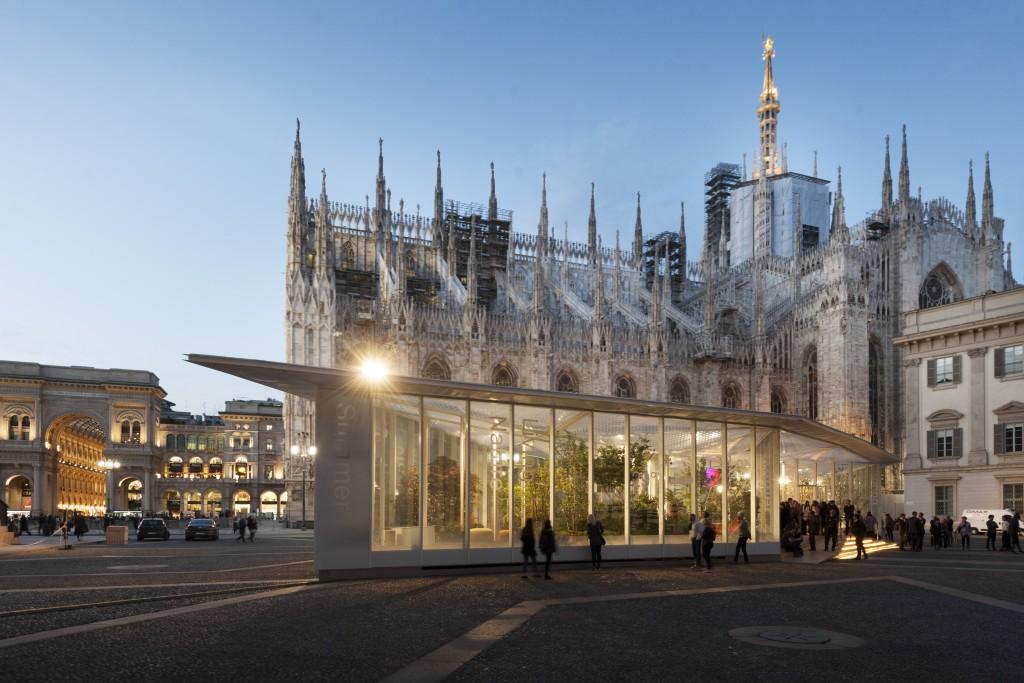 Living Nature, reflexión sobre la naturaleza y el hábitat a los pies del magnífico Duomo de Milán. Foto: salonemilano.it.