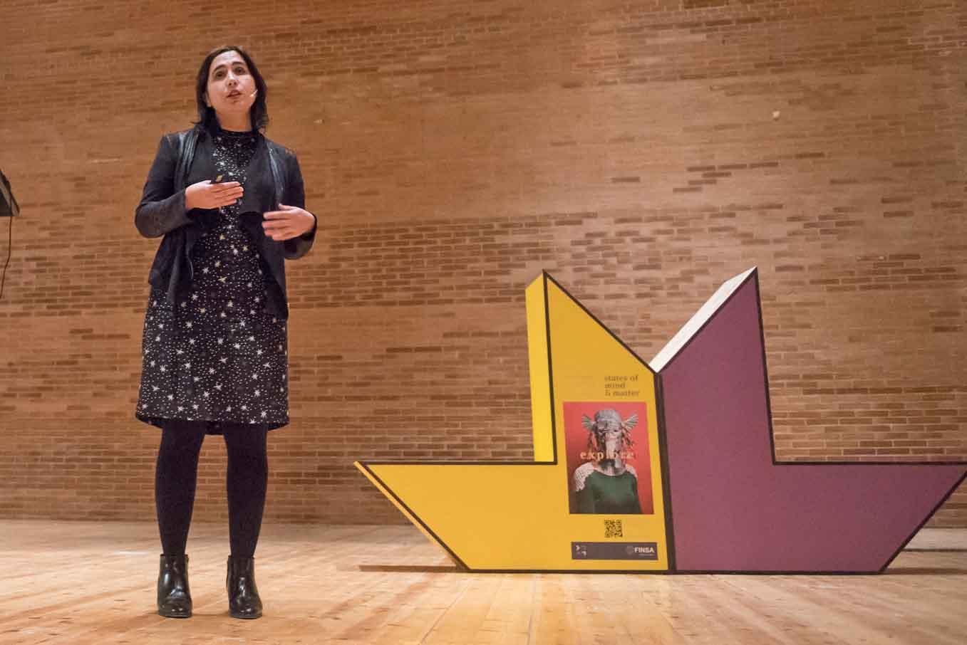 Maite Rodríguez en la presentación del Trendbook Finsa 2018-2019 durante la Feria del Mueble de Zaragoza