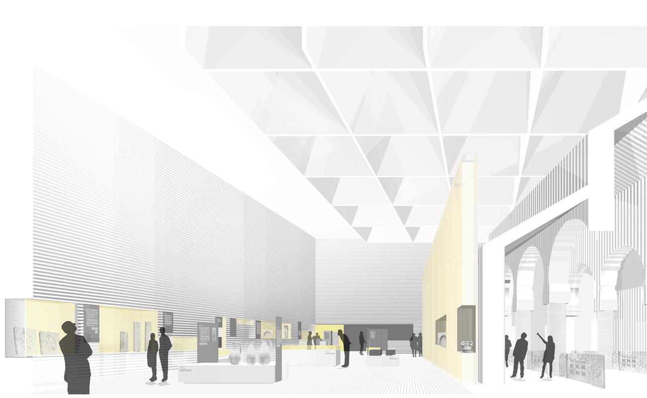 Musée wisigothique de Mérida, un autre projet que le studio Paredes Pedroso exposera à Venise.