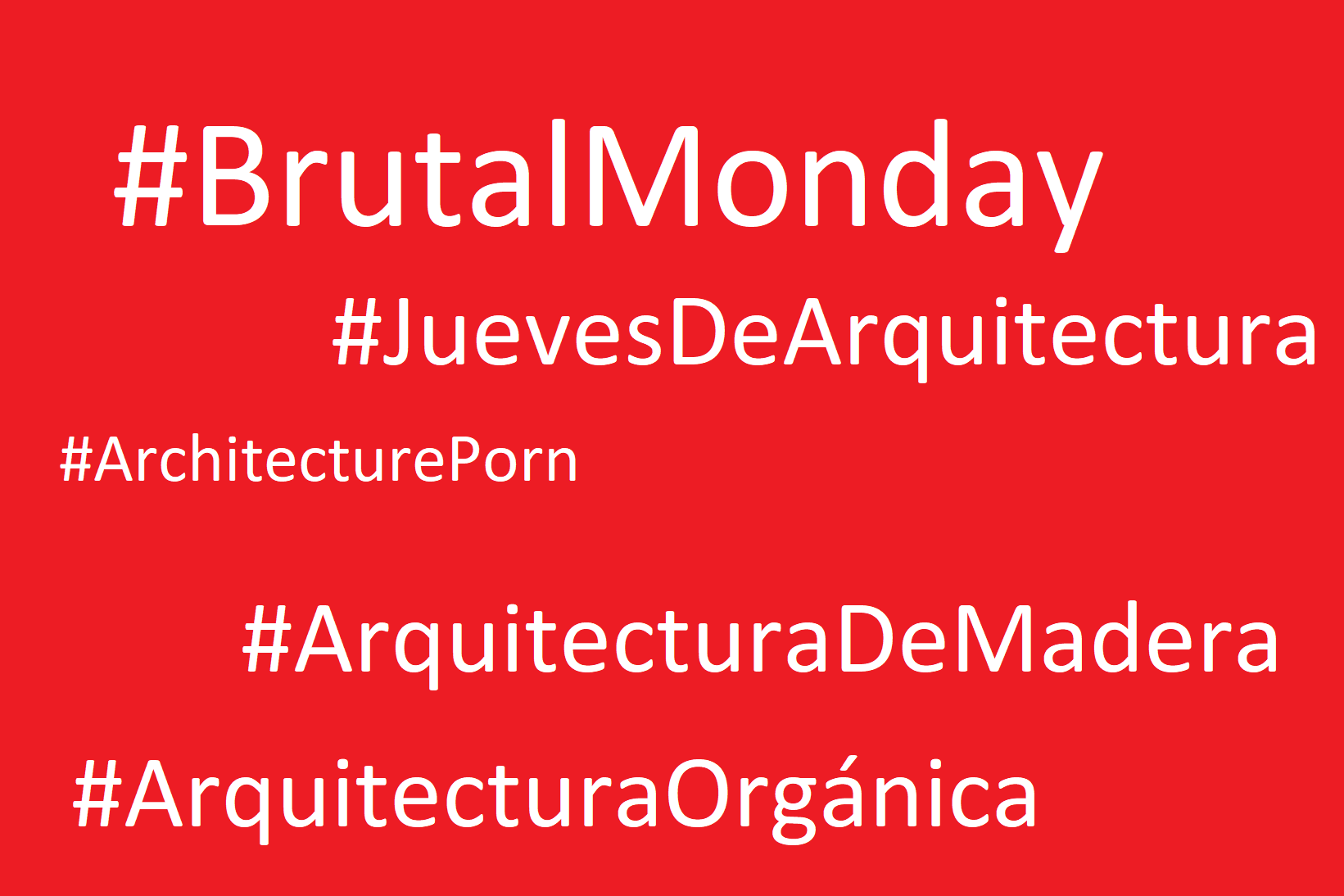 hashtags y arquitectura