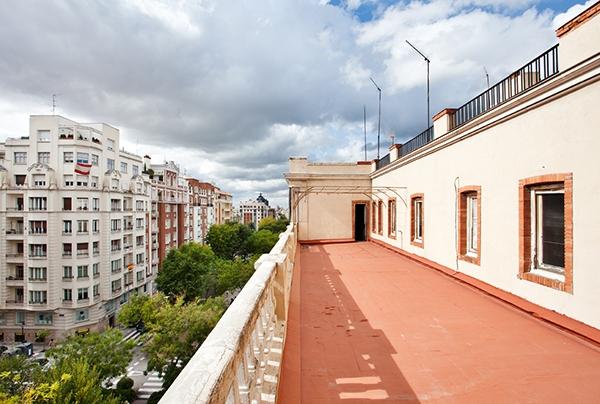 Terraza del edificio de Casa Decor 2019.