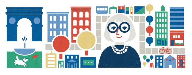 Google dedicó un doodle a Jane Jacobs el 4 de mayo de 2016, coincidiendo con el 100 aniversario de su nacimiento.