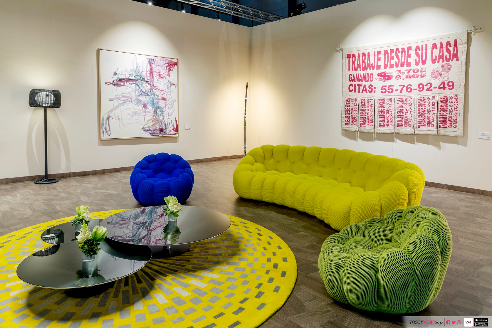 Design by Estudio Alegría at the Sala Fundación Arco in 2018